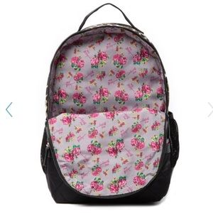 Betsey Johnson Bags - Betsey Johnson mixed prints backpack and wristlet!